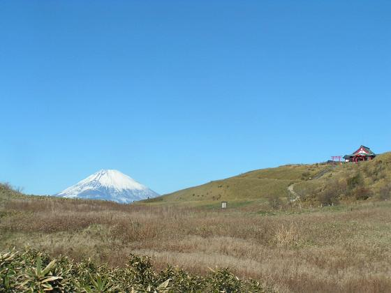 箱根神社と富士山