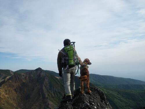 茶臼山頂にて