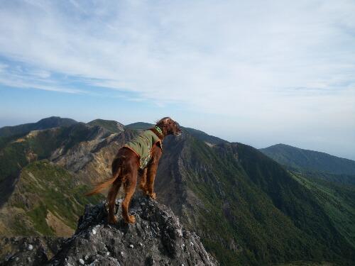 朝日岳を望む!