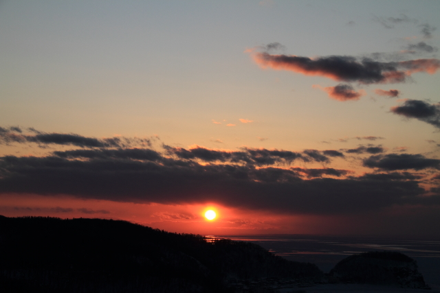 299オホーツク海の沈む夕日