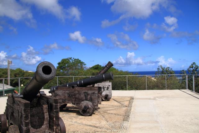 306アプガン砦の3基の砲台