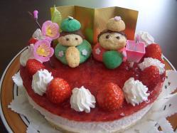 ひな祭りムースケーキ
