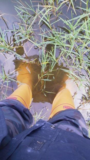 ハマーの長靴^^