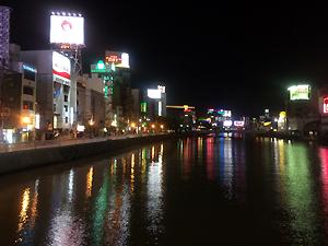 中洲の夜景。