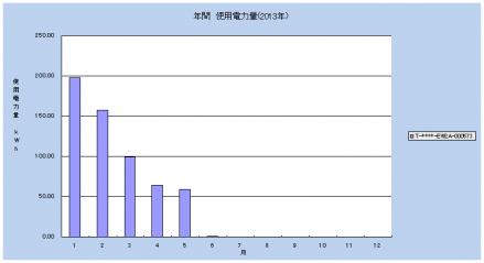 2013年使用電力量グラフ