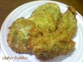 チキンカツ バジルパン粉