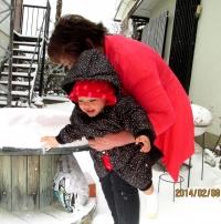 JJ14年2月8日雪遊び1