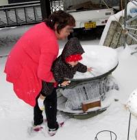 JJ14年2月8日雪遊び2