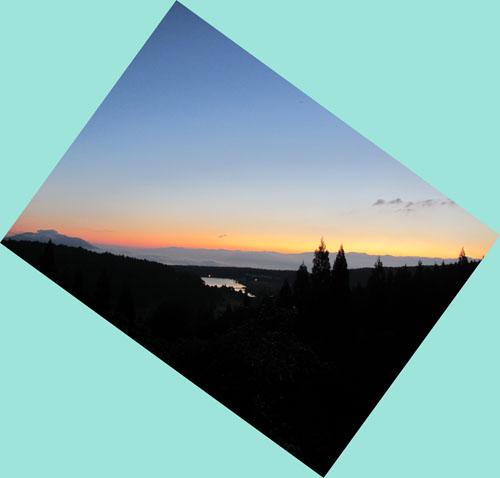 飯綱東高原の夜明け