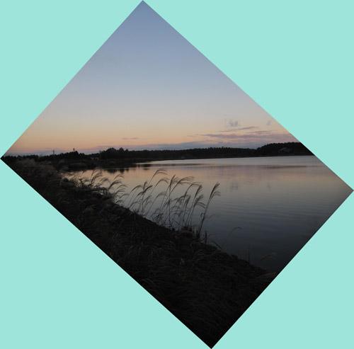 今日の霊仙寺湖