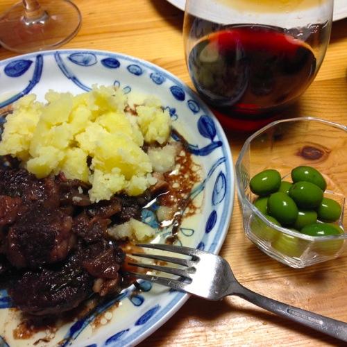 4牛の赤ワイン煮
