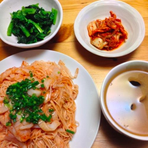 1韓国風イカ入り素麺