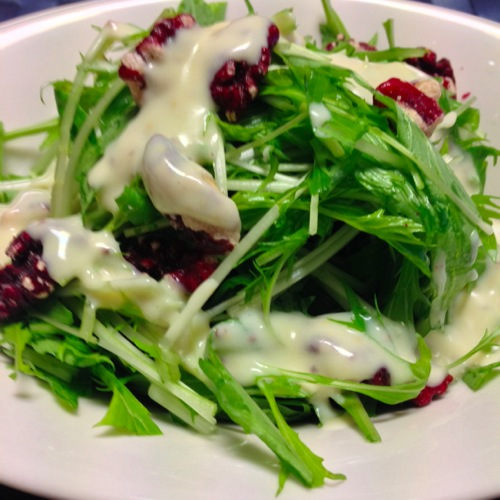 2水菜のサラダ