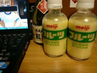 フルーツ牛乳