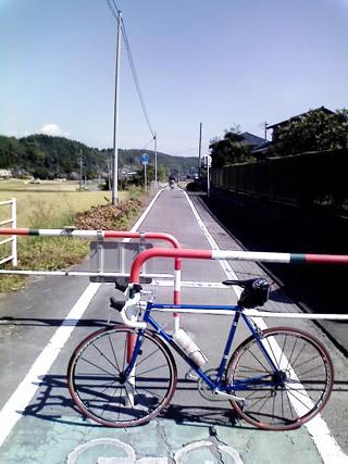 山鹿サイクリングロードにて