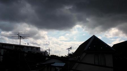 9.16にわか雨の時の雲