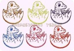 僕は恐竜はんこポストカード