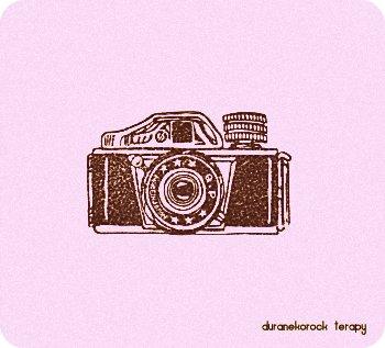 お豆なカメラ 三ツ星ミゼットはんこレトロ風