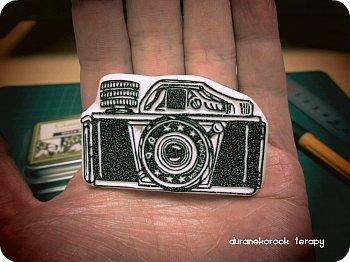 手のひらにお豆なカメラ 三ツ星ミゼットはんこ
