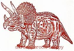 トリケラトプスはんこポストカード