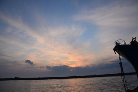 副港の夕焼け