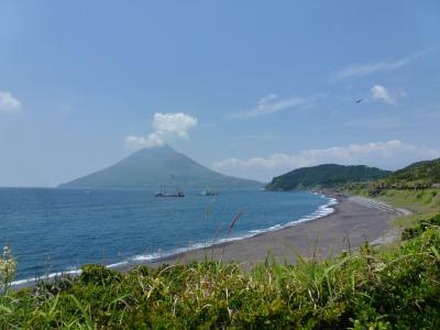 長崎鼻から見る開聞岳 2013 5・3
