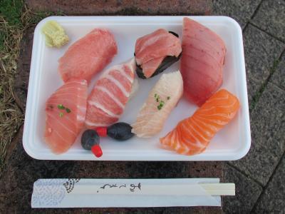 唐戸市場の握り寿司