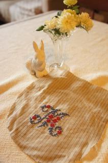 花文字の刺しゅう