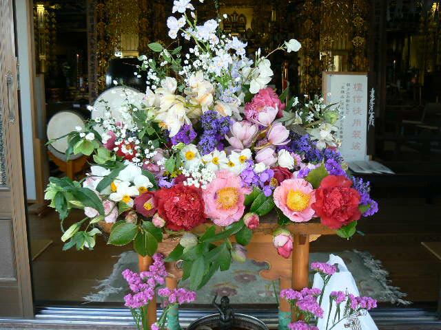花御堂の奉納