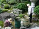庭園の清掃