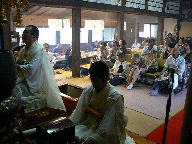 ほうろく灸祈祷の住職
