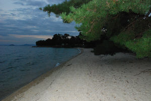 夕暮れの琵琶湖畔55