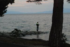 夕暮れの琵琶湖畔38