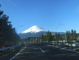 富士五湖道路から彼が