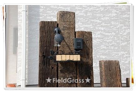 アンティーク枕木門柱