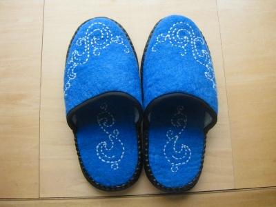 スリッパ男性用ブルー