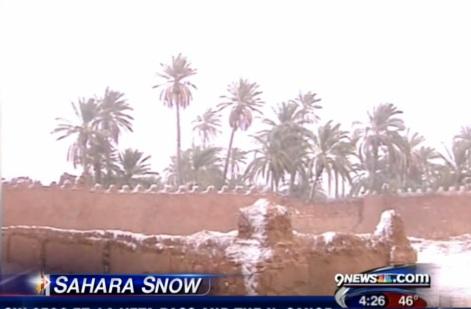 サハラ砂漠の雪