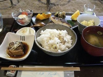 2011.10.10 定食 栗ごはん