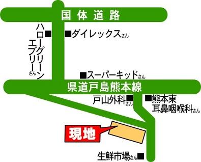 コアマンション健軍町案内地図