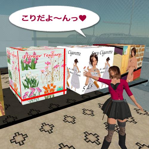 お花畑テクス箱をCreativeJapanの築地市場に置きました