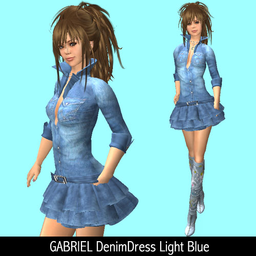 GABRIEL DenimDress Light Blue