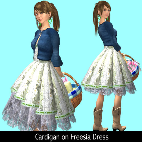 Cardigan on Freesia Dress