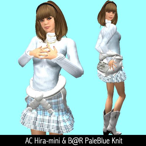 AC Hira-mini & B@R PaleBlue Knit