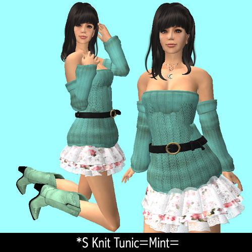 *S Knit Tsunic=Mint=