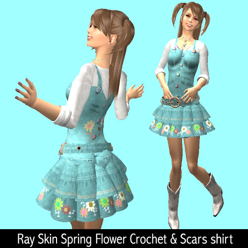 Ray Skin Spring Flower Crochet and Scars shirt