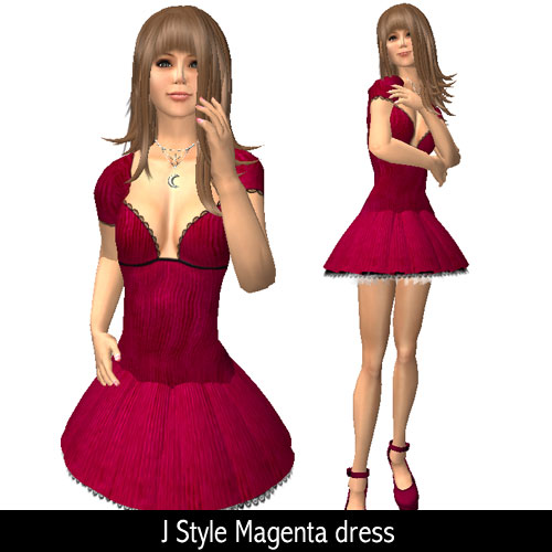 J Style Magenta dress