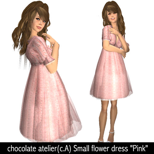 "chocolate atelier(c.A) Small flower dress ""Pink"""