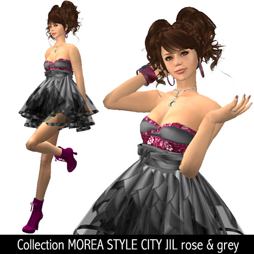 Collection MOREA STYLE CITY JIL rose & grey