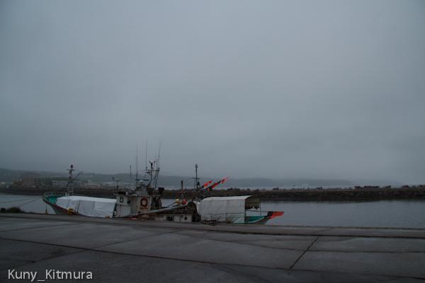 霧雨の夕方