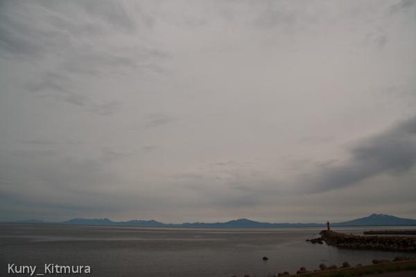 曇りの半島